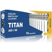 Радиатор биметалл Titan, 1 секция - Польша, 265х96х80, 0,13 литра, 145 Вт (шт.)